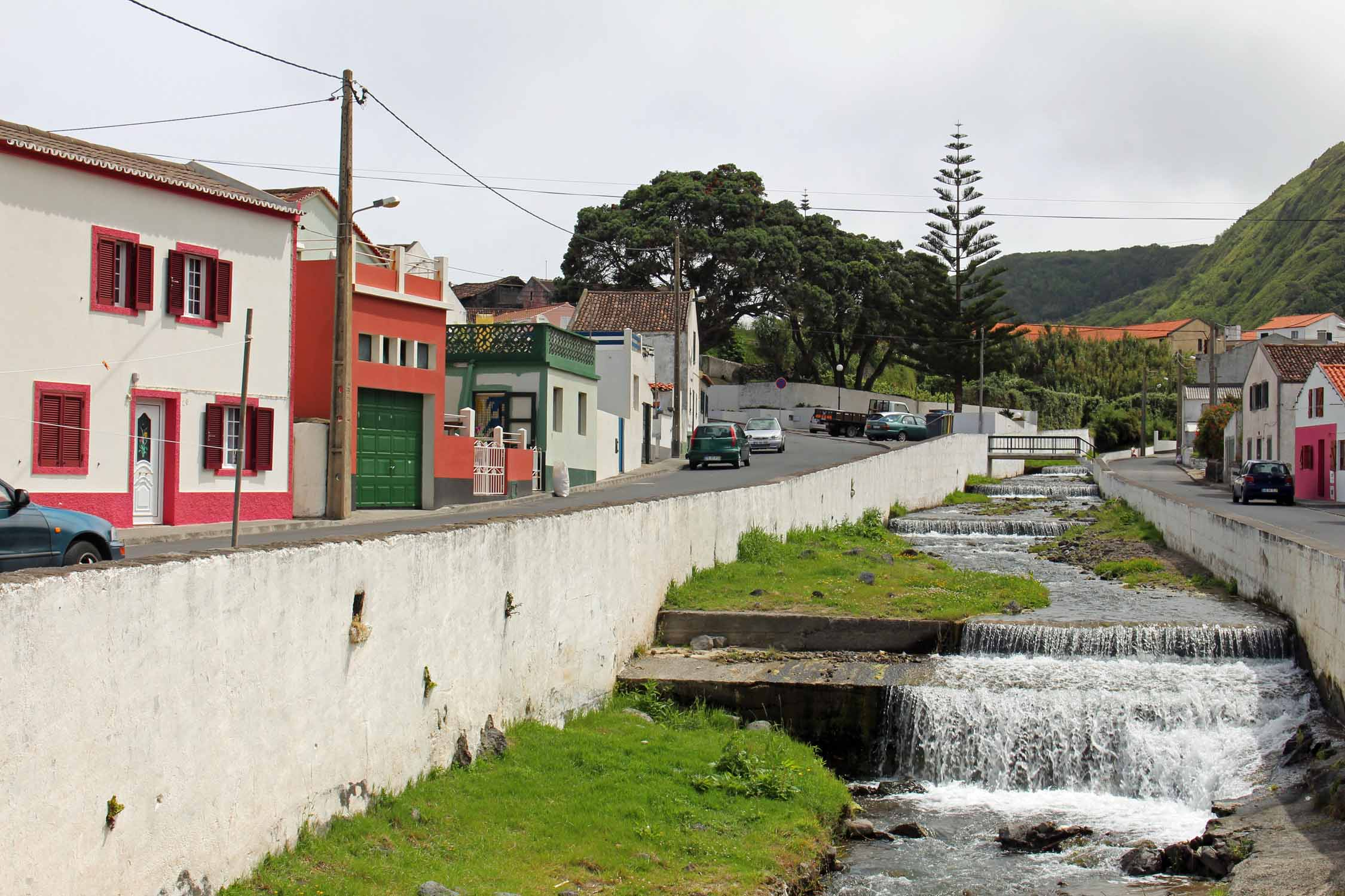 A river in the village of Mosteiros, São Miguel island, Azores