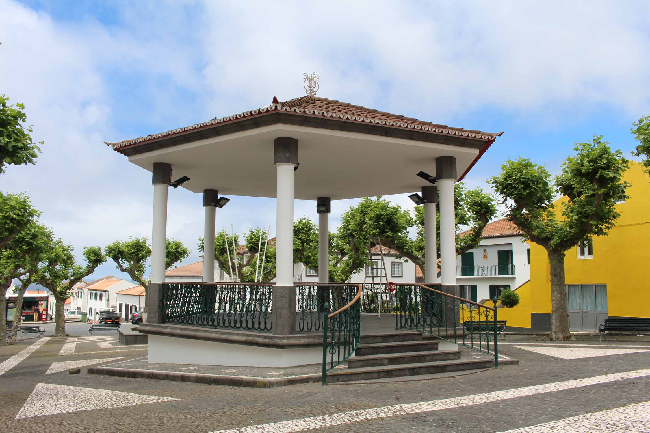 A kiosk in the village of Mosteiros, São Miguel island, Azores