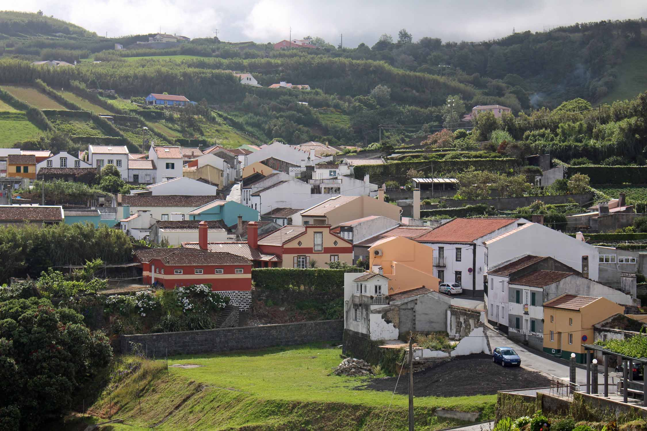 Beautiful landscape in Porto Formoso, São Miguel island, Azores