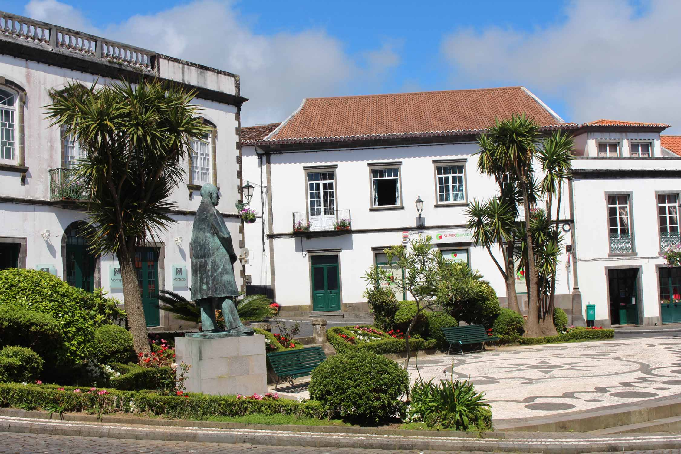 A square in Nordeste in São Miguel island, Azores