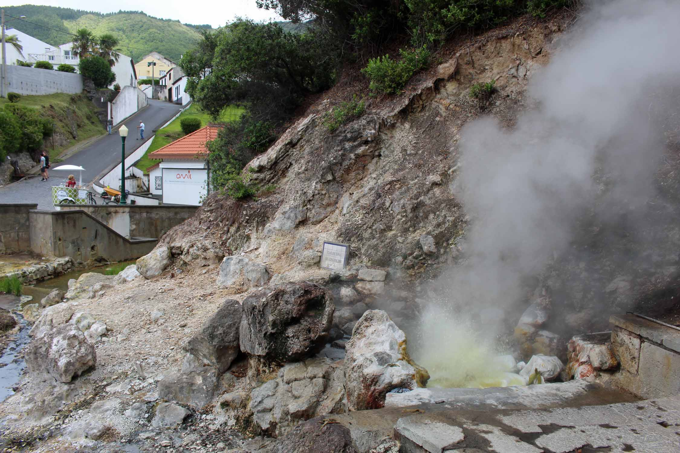 Boiling water in the village of Furnas, São Miguel island, Azores