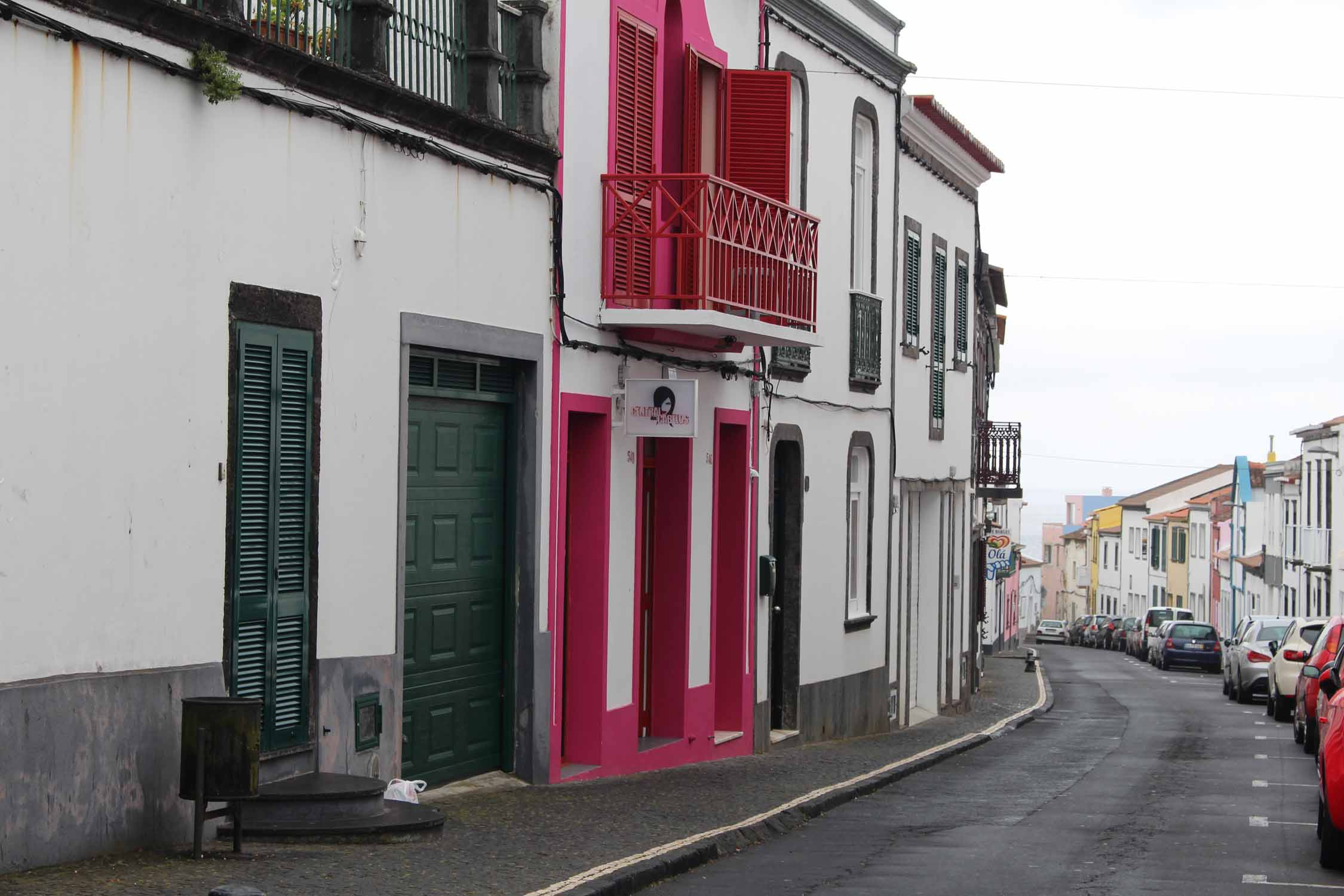 A typical street in Lagoa, São Miguel island, Azores