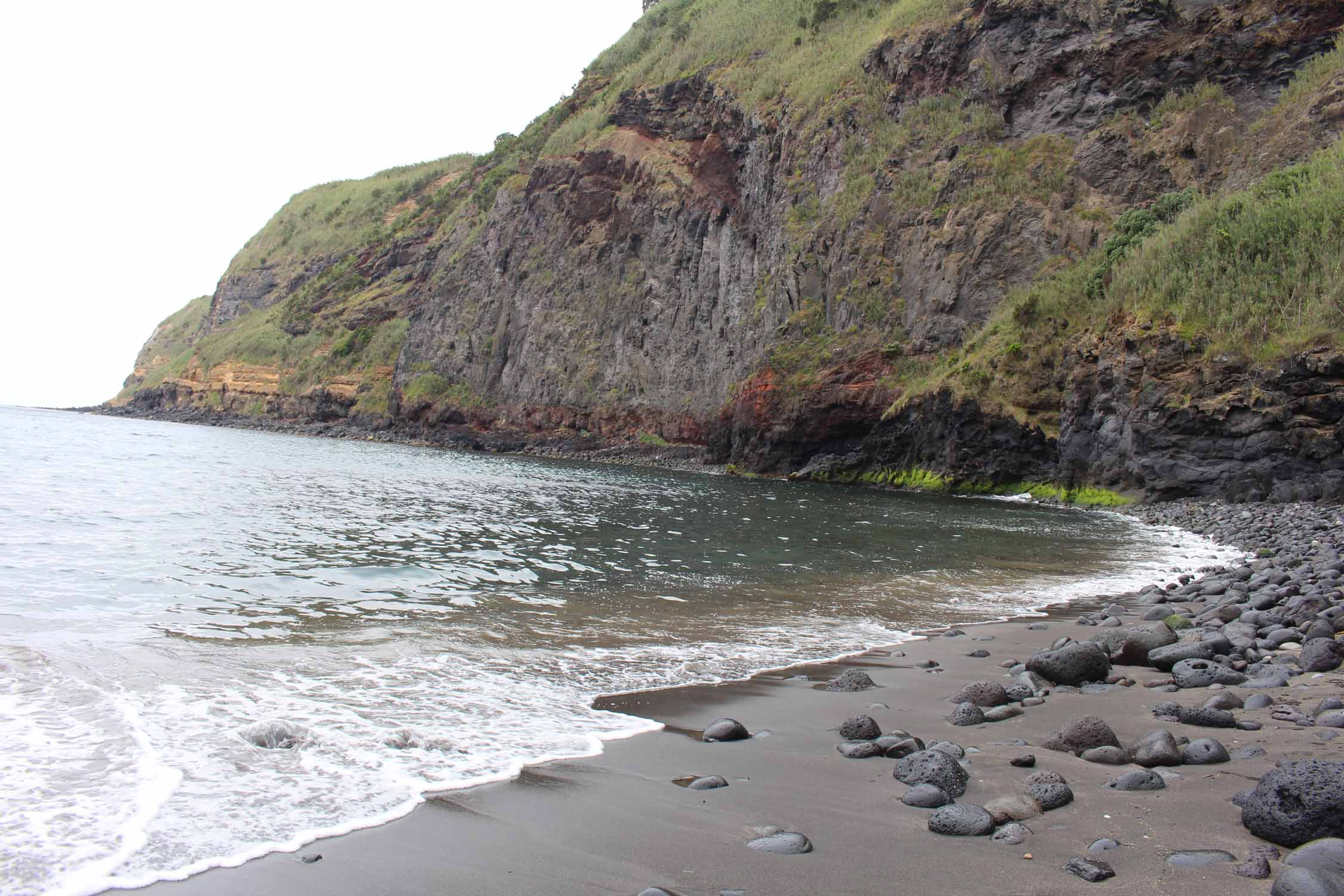 The Caloura beach in São Miguel island, Azores