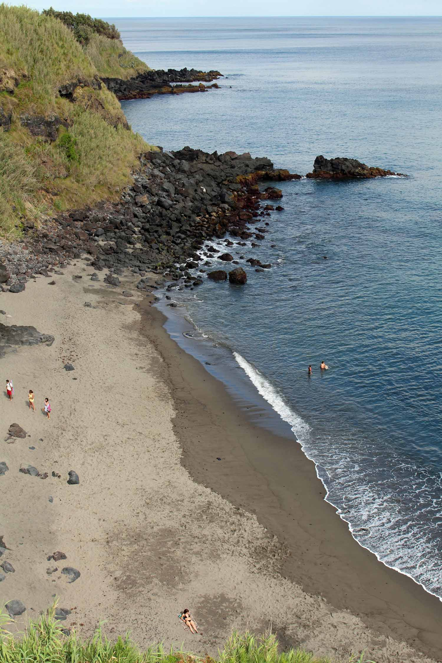The beach of Ribeira das Tainhas in São Miguel island, Azores
