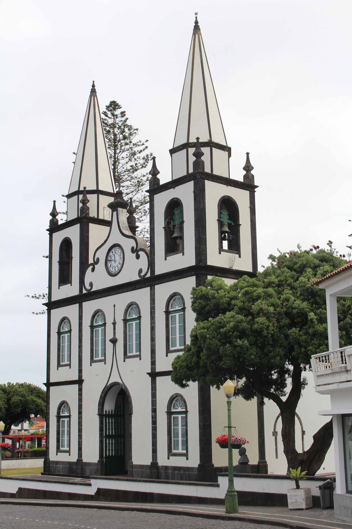 The typical church Santa Maria in Madalena, Pico Island, Azores