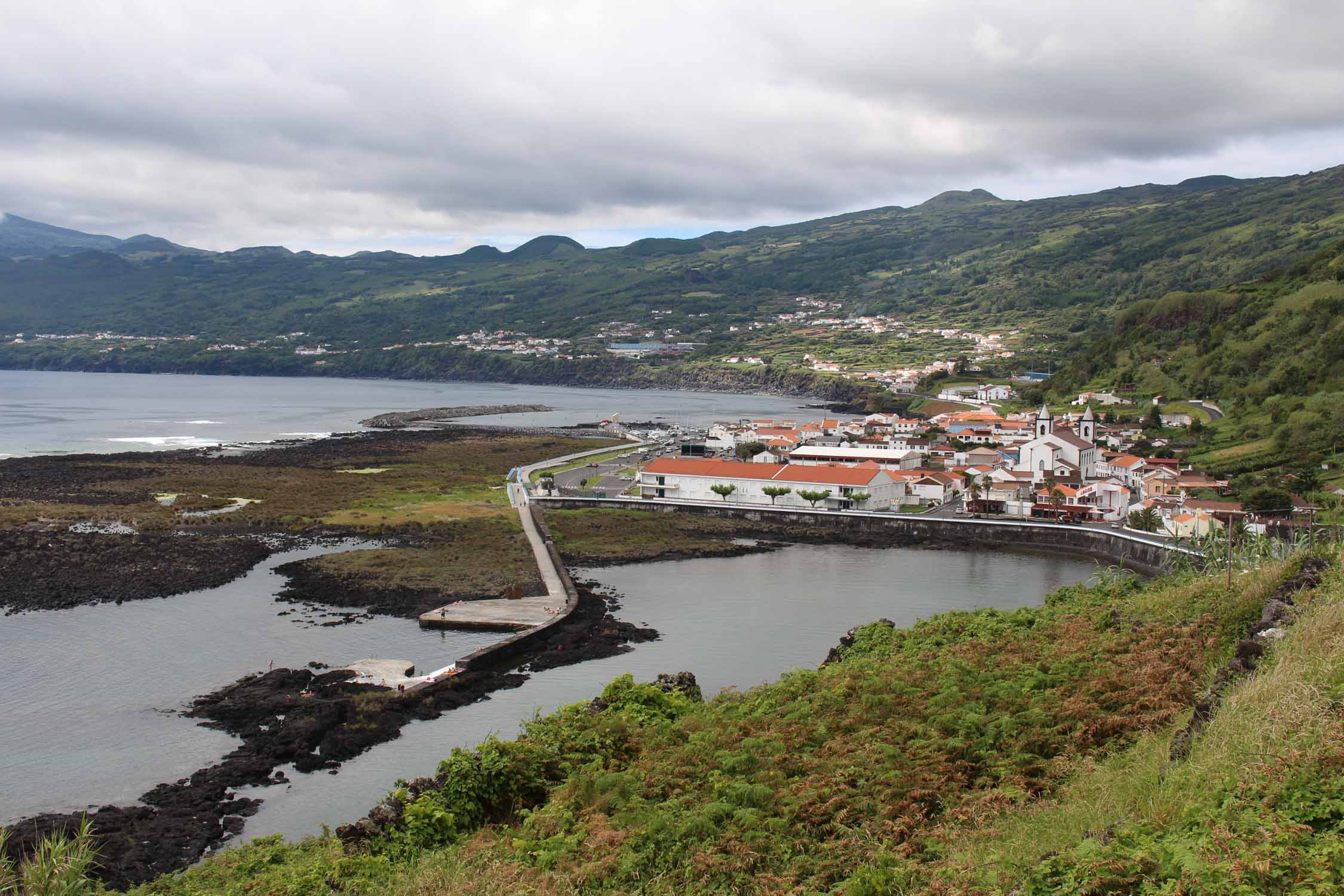 Azores, Pico Island, Lajes do Pico, cliff