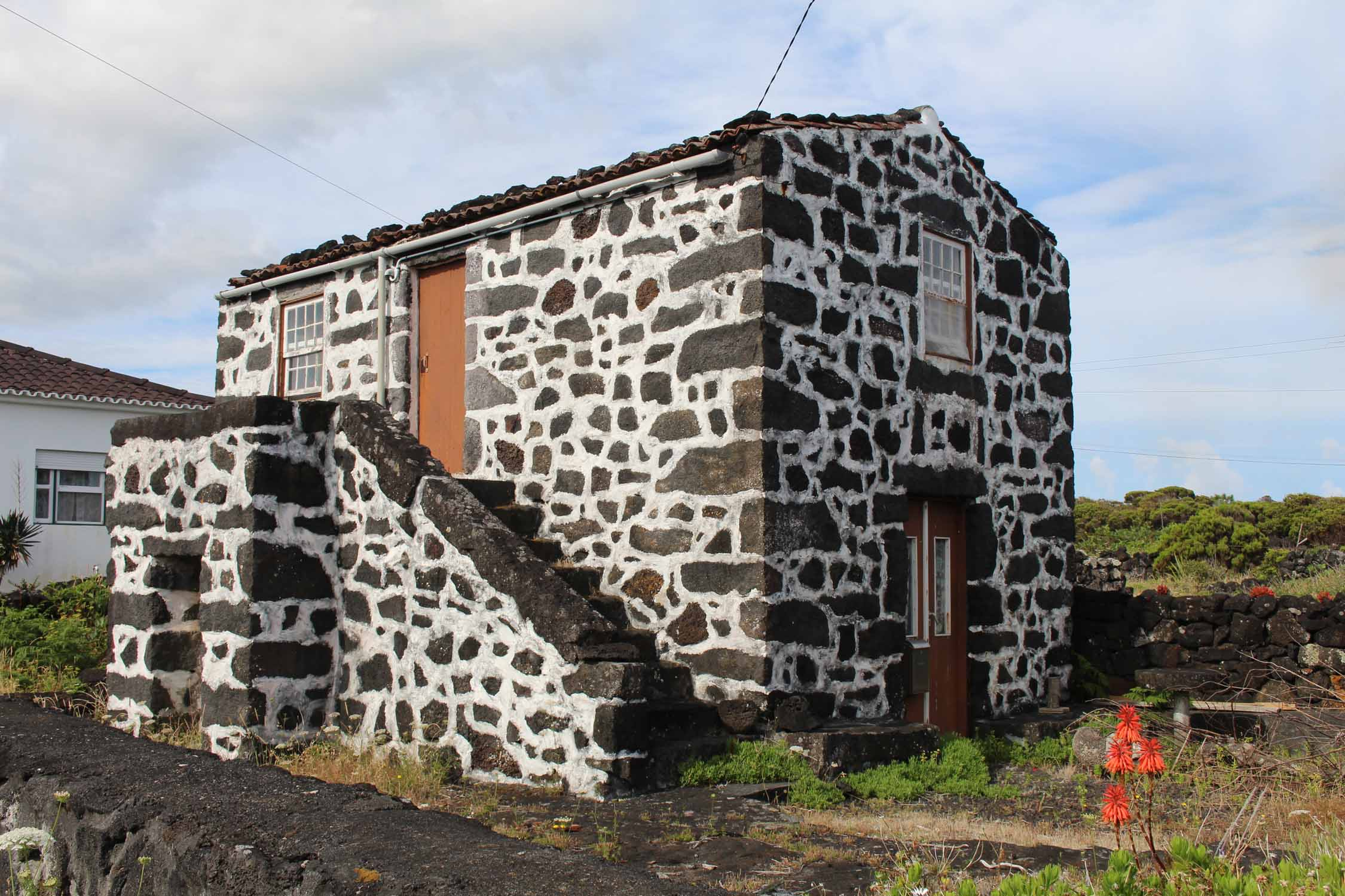 Azores, Pico Island, Arcos, typical house
