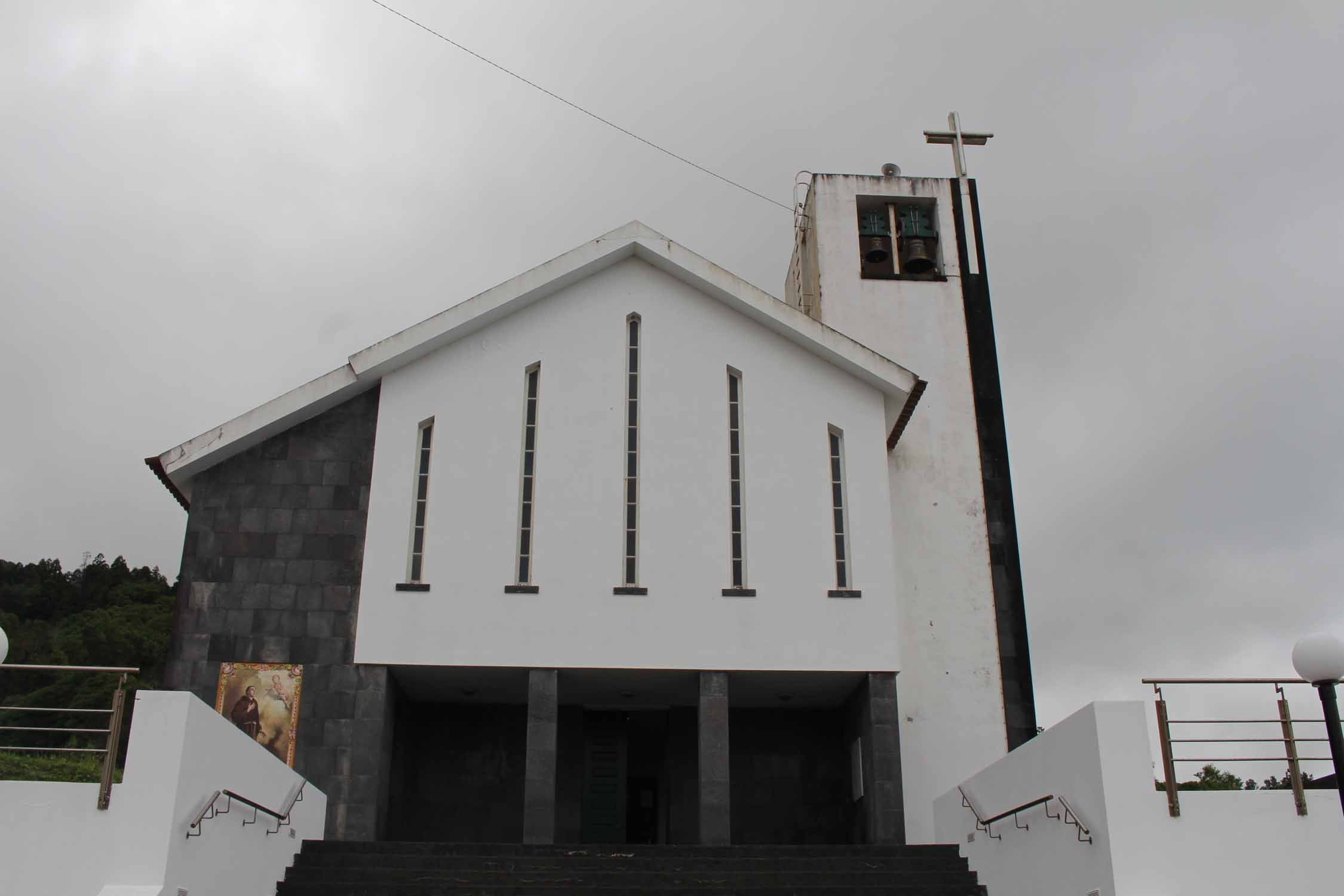 Azores, Faial Island, Espalhafatos, church