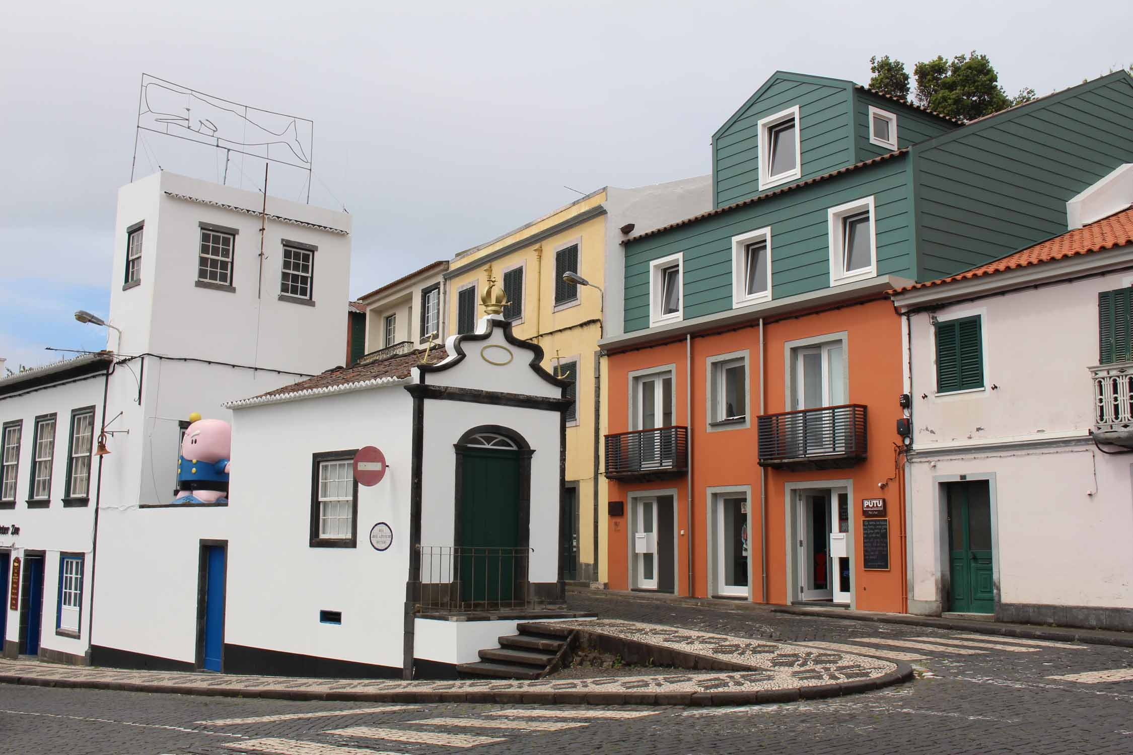 Coloured houses in Horta, Faial Island, Azores