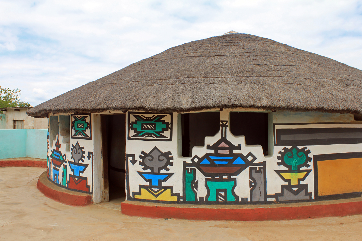 Ndebele village, house