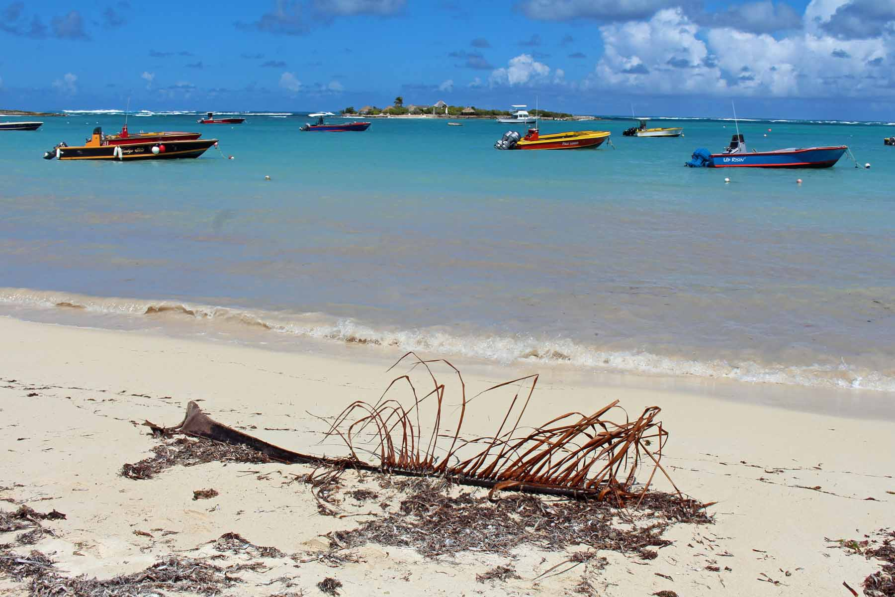 The Island Harbour beach on Anguilla island