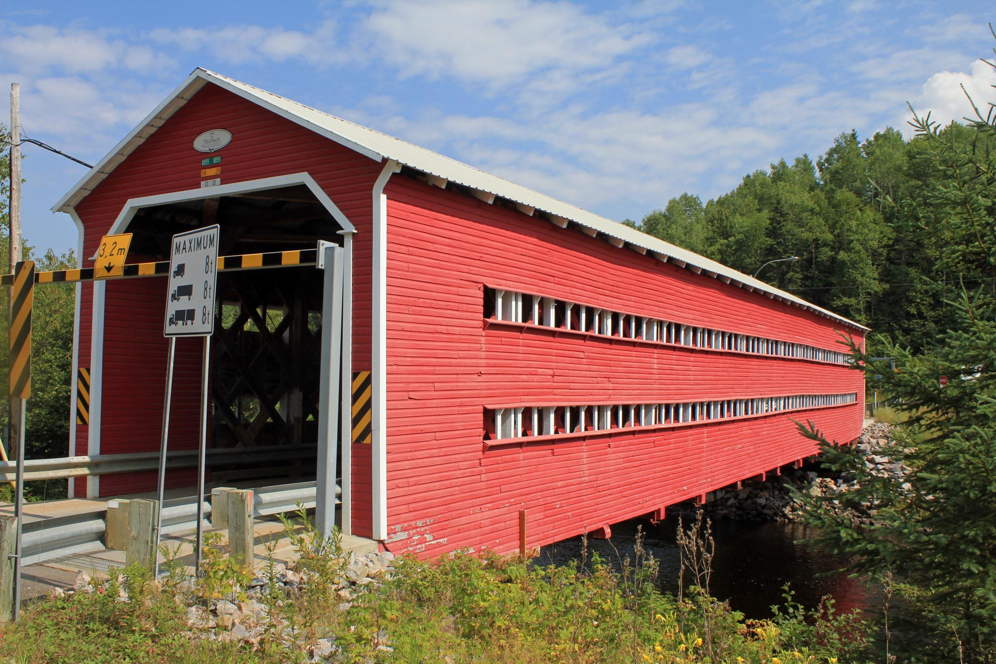 Covered bridge, la Bostonnais