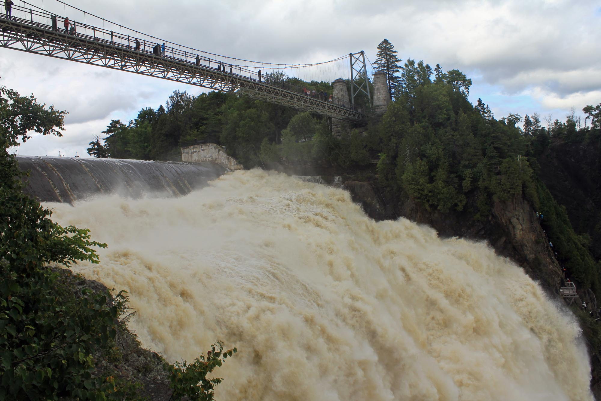 Montmorency falls, bridge