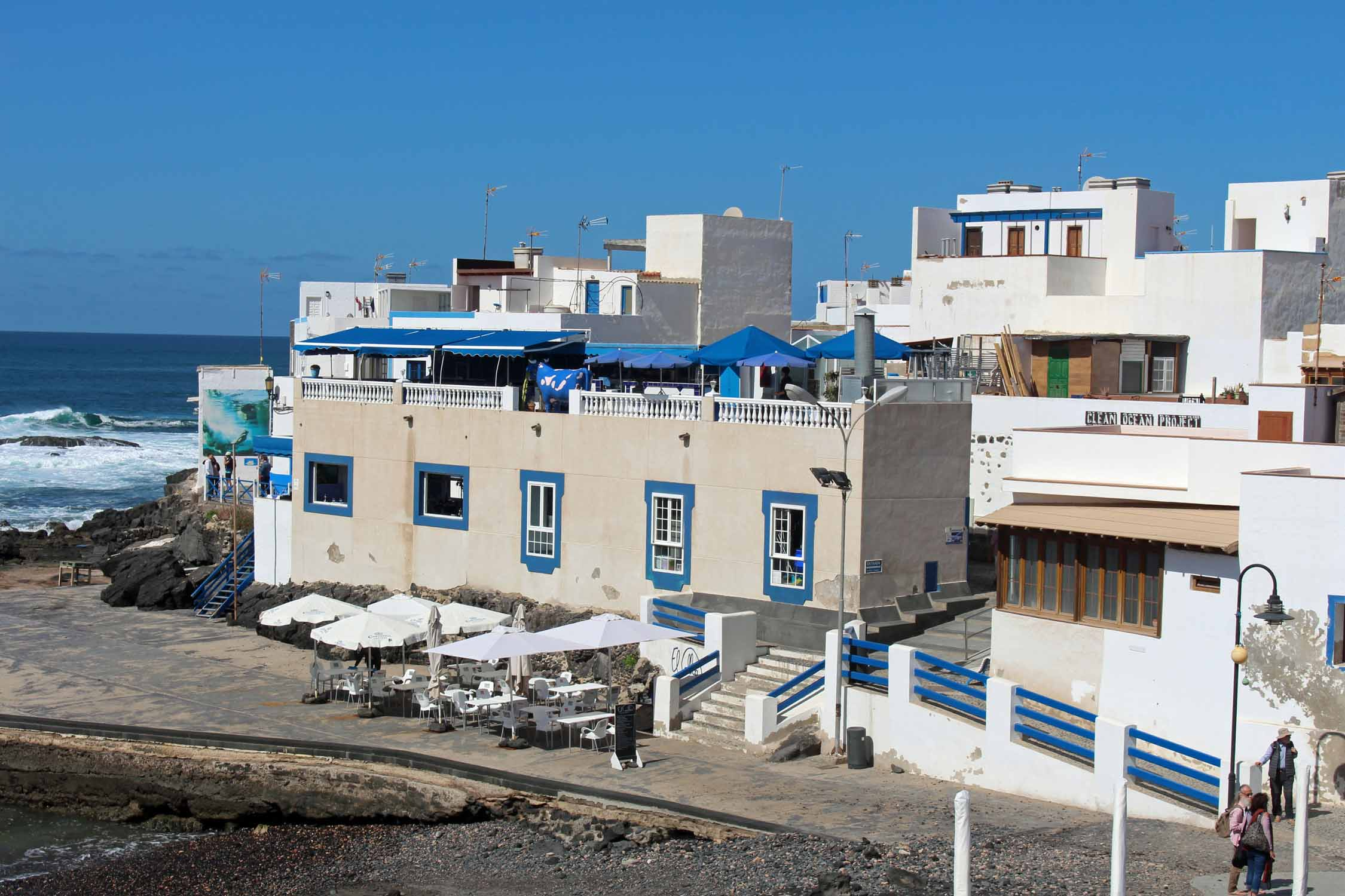 Fuerteventura, El Cotillo, typical houses