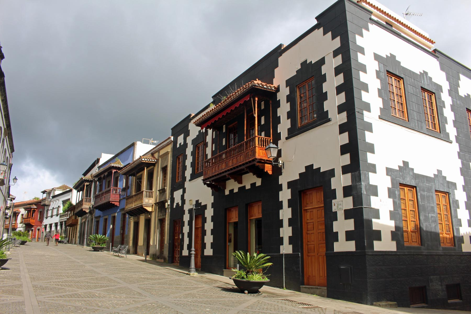 Grande Canarie, Teror, calle Real, maisons