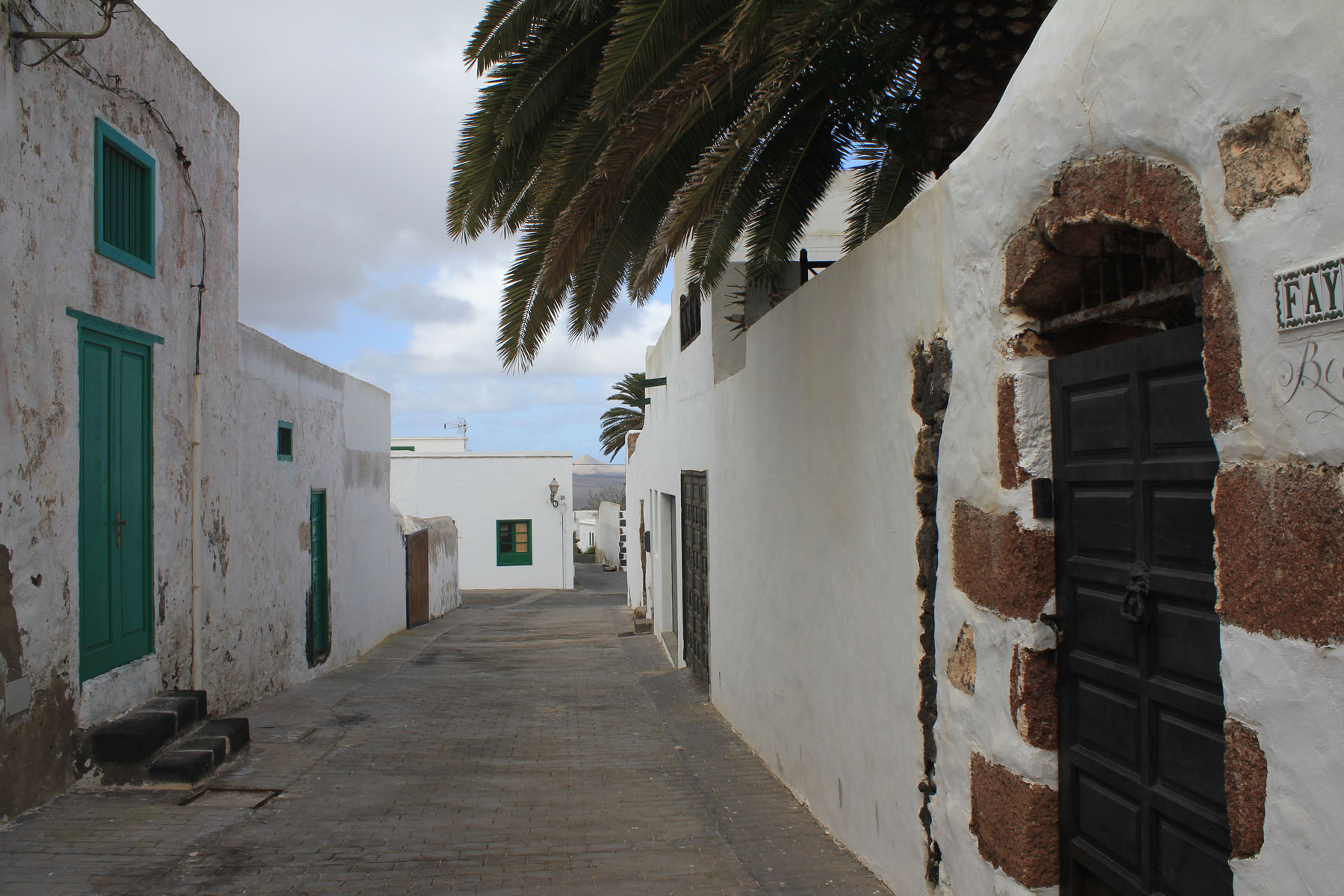 Lanzarote, Teguise, typical street