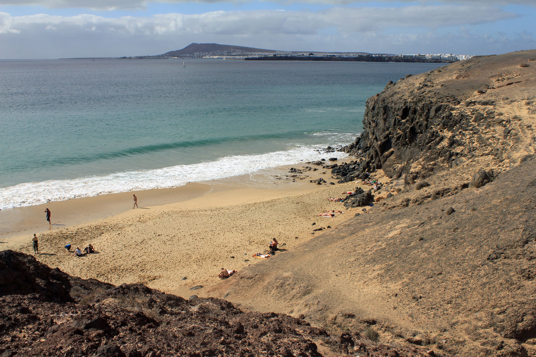 Lanzarote, playa de Papagayo, Canary Islands