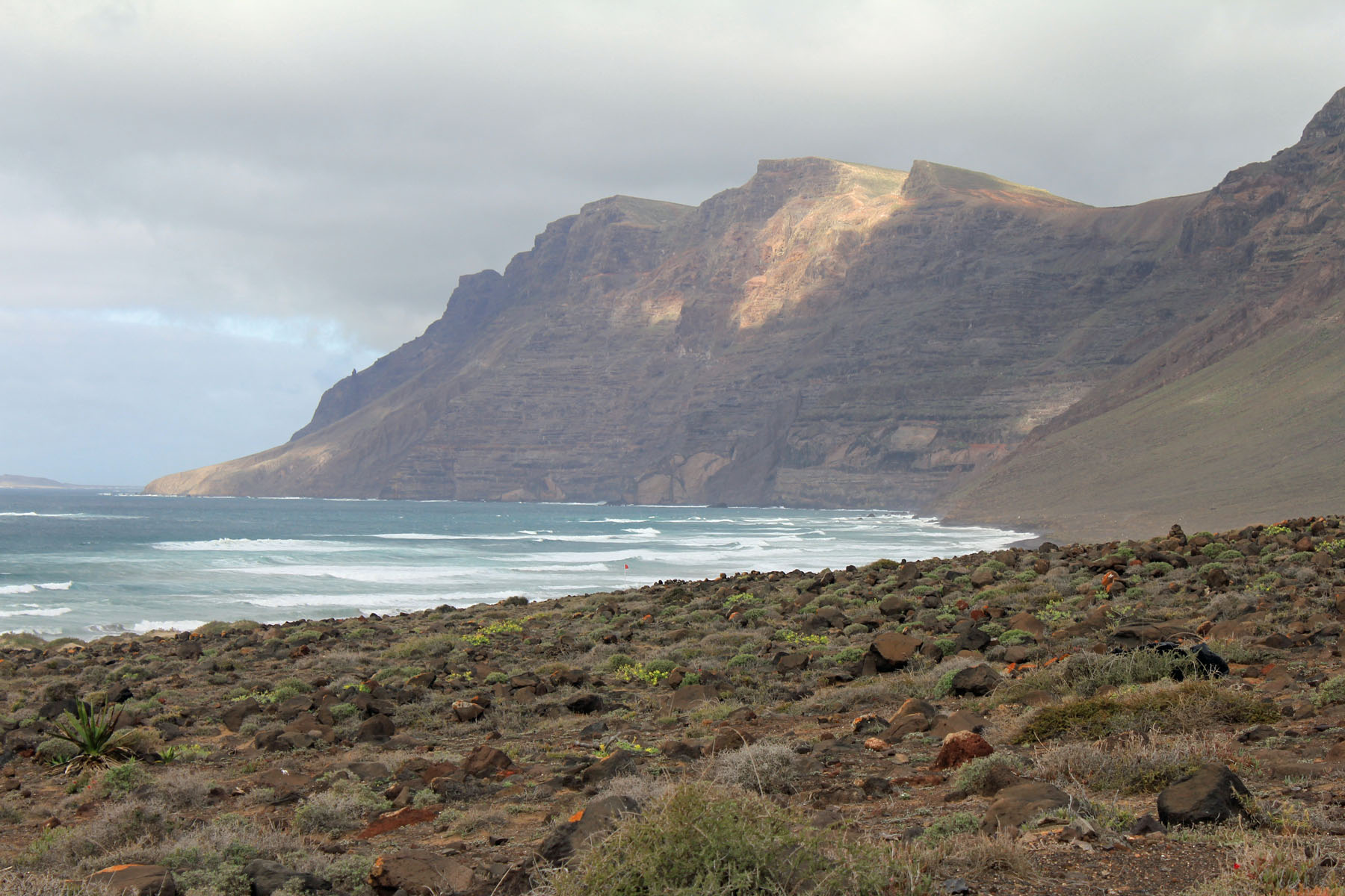 Canary Islands, Lanzarote, Risco de Famara