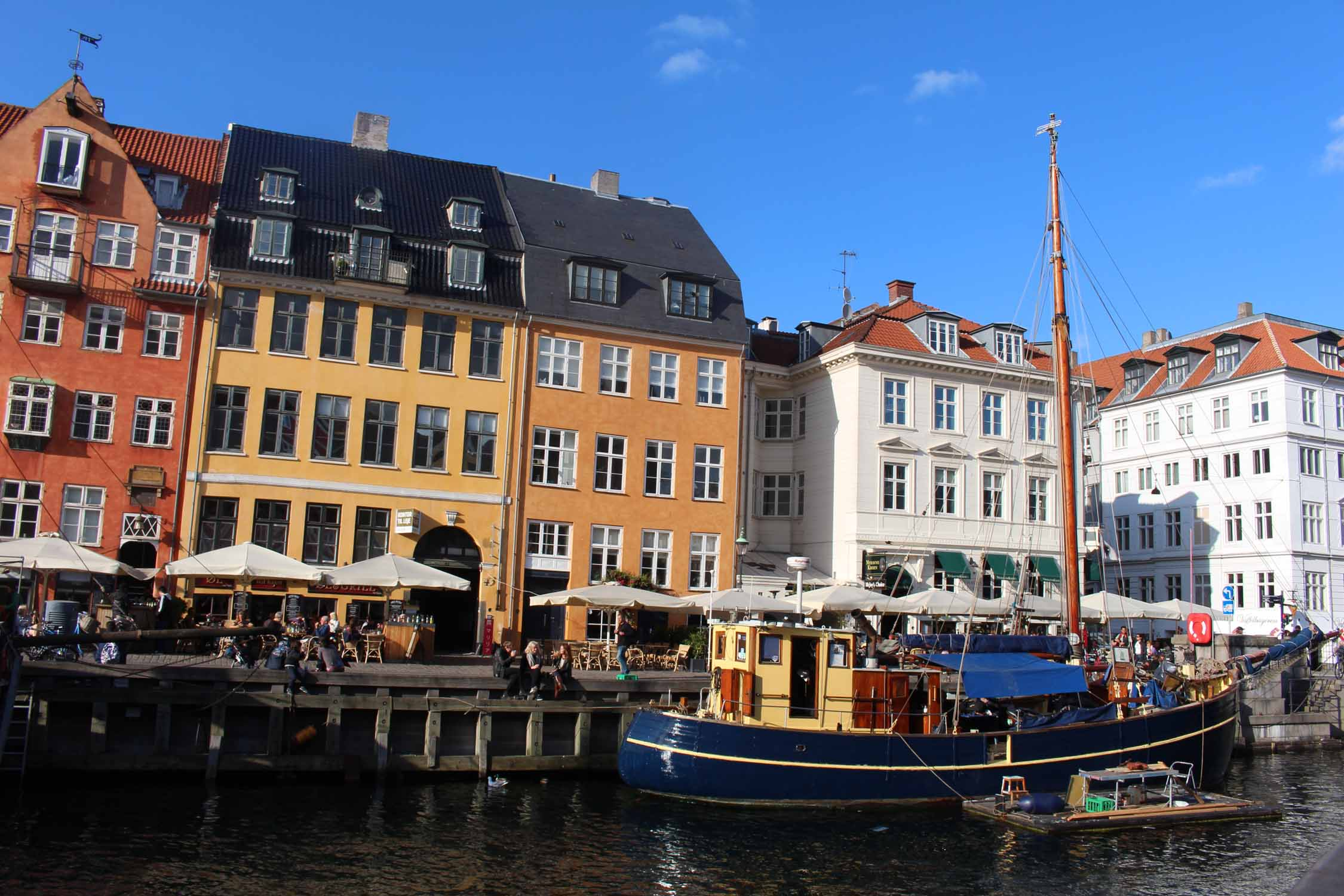 Copenhagen, Nyhavn, canal, coloured houses