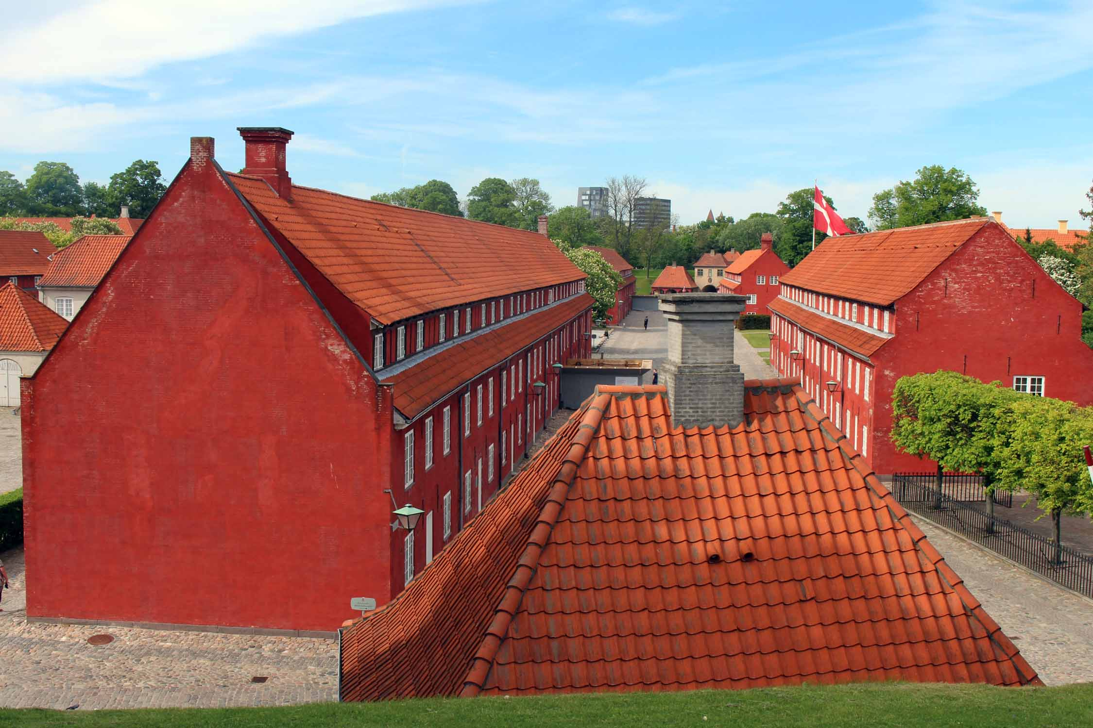 Copenhague, citadelle, bâtiment