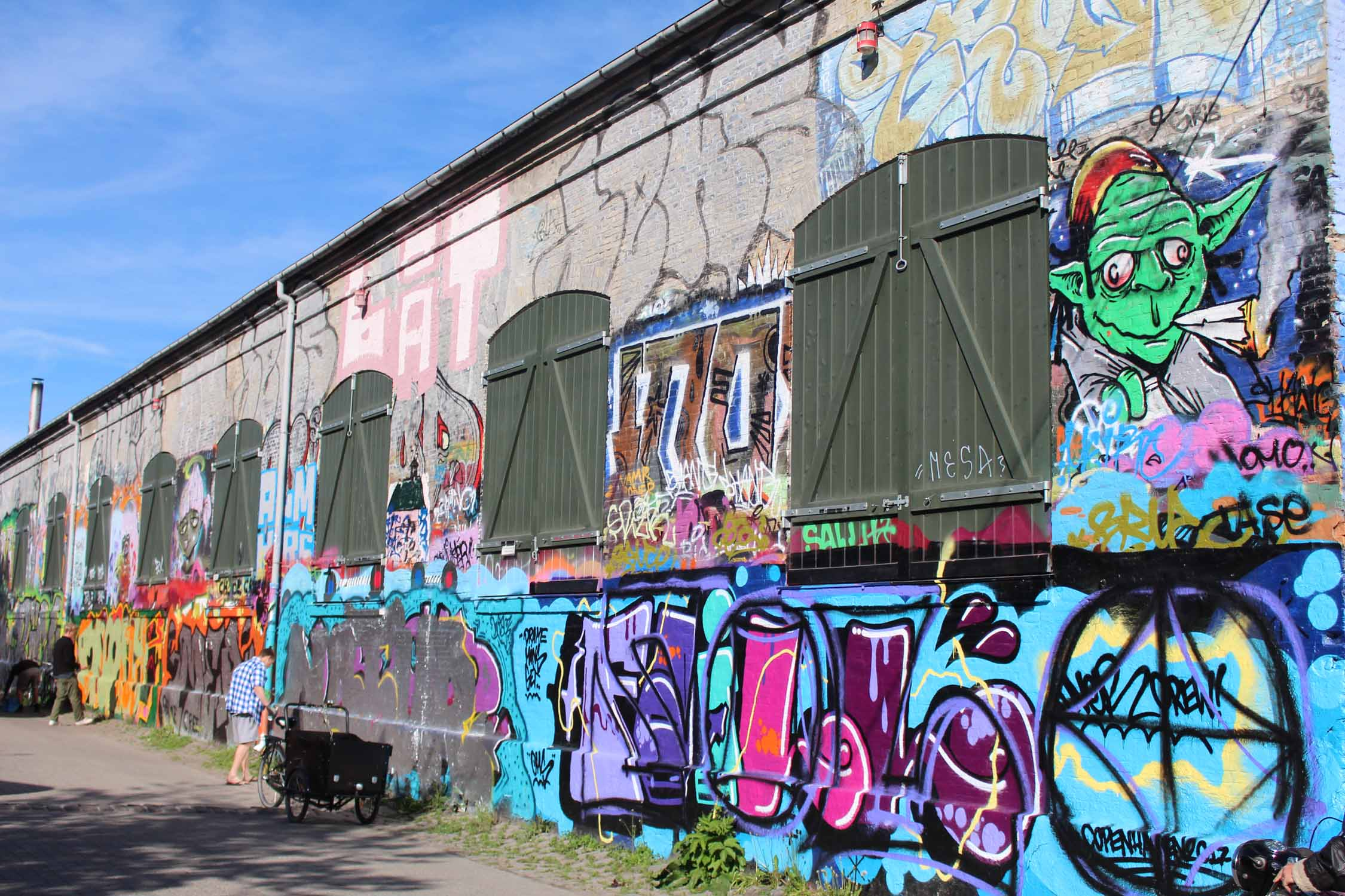 Copenhague, Christiania, graffitis