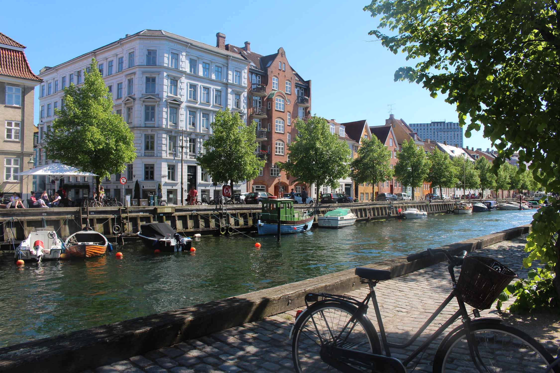 Copenhague, canal Christianhavns, vista