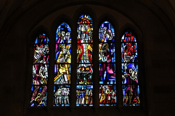 Echternach, Saint-Willibrond, basilica, stained glasses