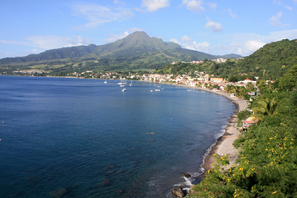 Saint-Pierre bay, Martinique Island