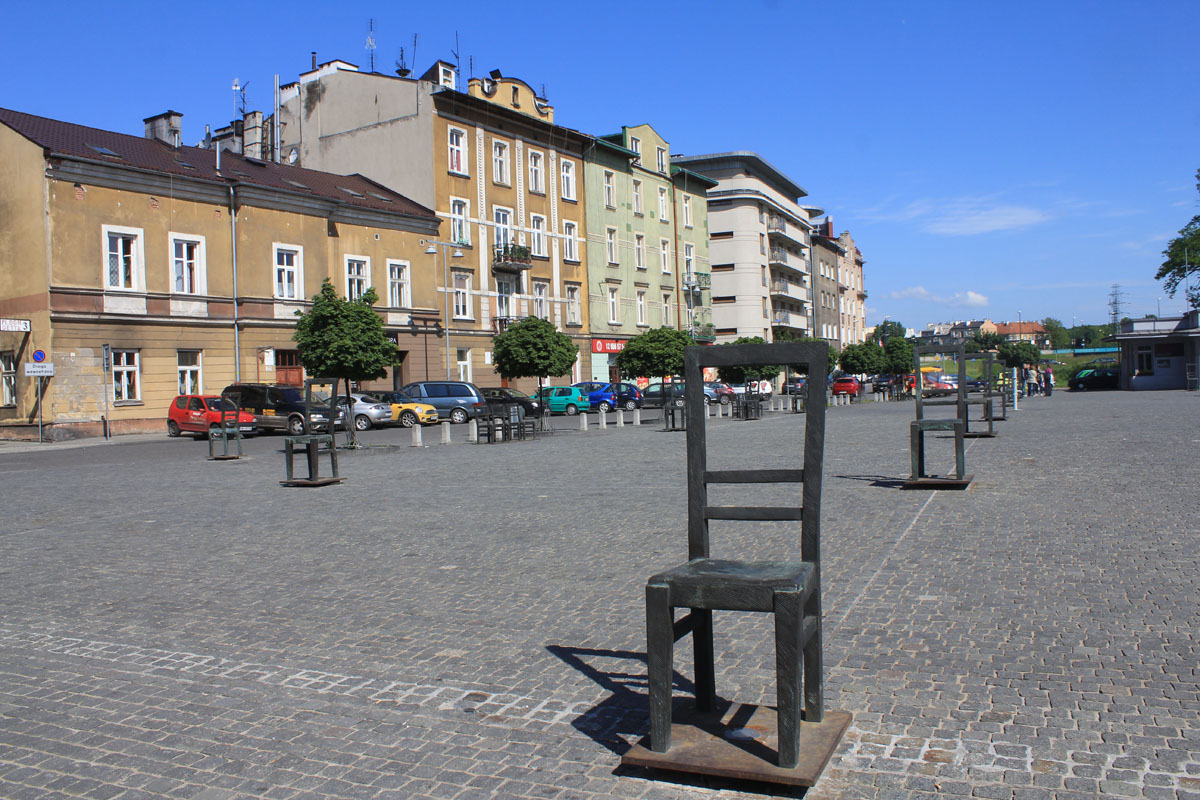 Krakow, Ghetto Heroes square