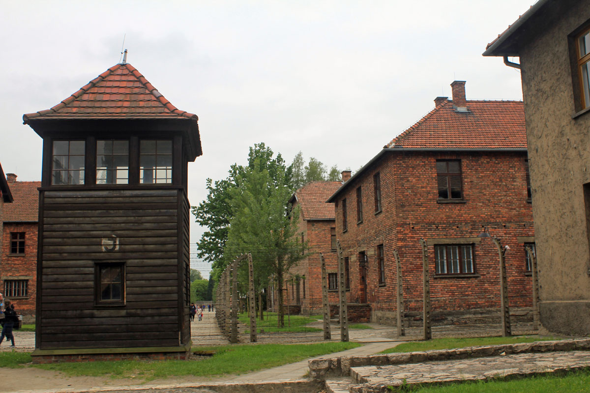 Auschwitz, blocks, mirador, Poland