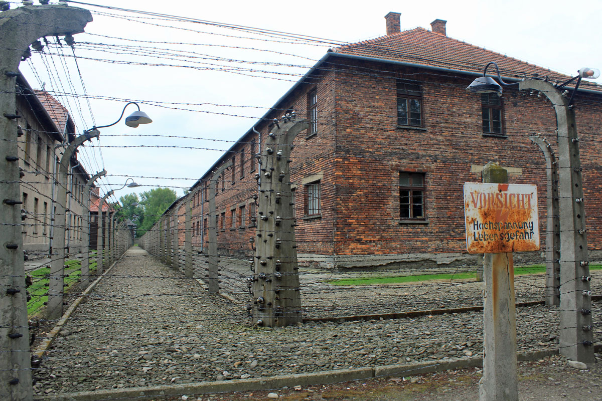 Auschwitz, extermination camp, wire fencing