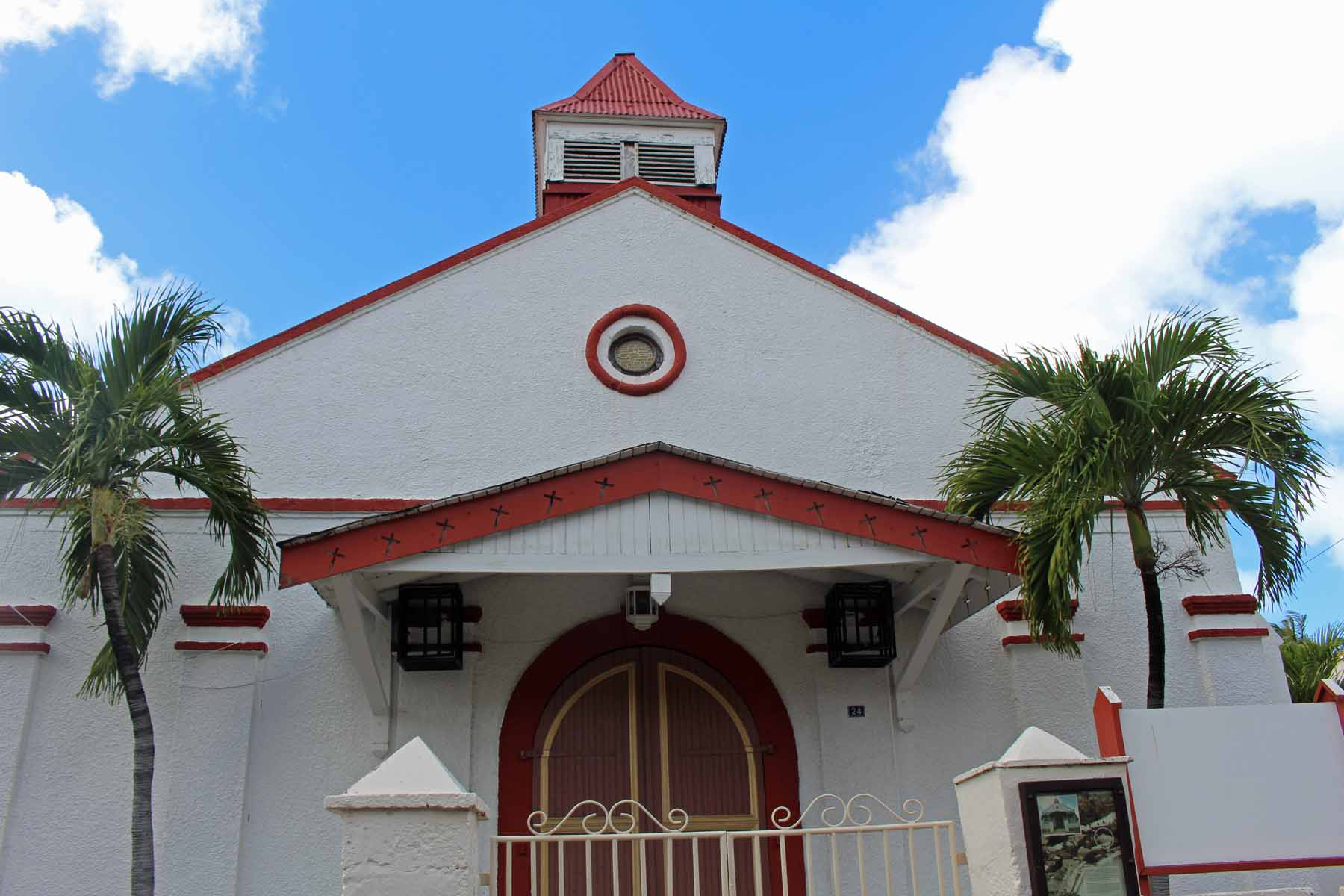 Saint-Martin island, Marigot, adventist church