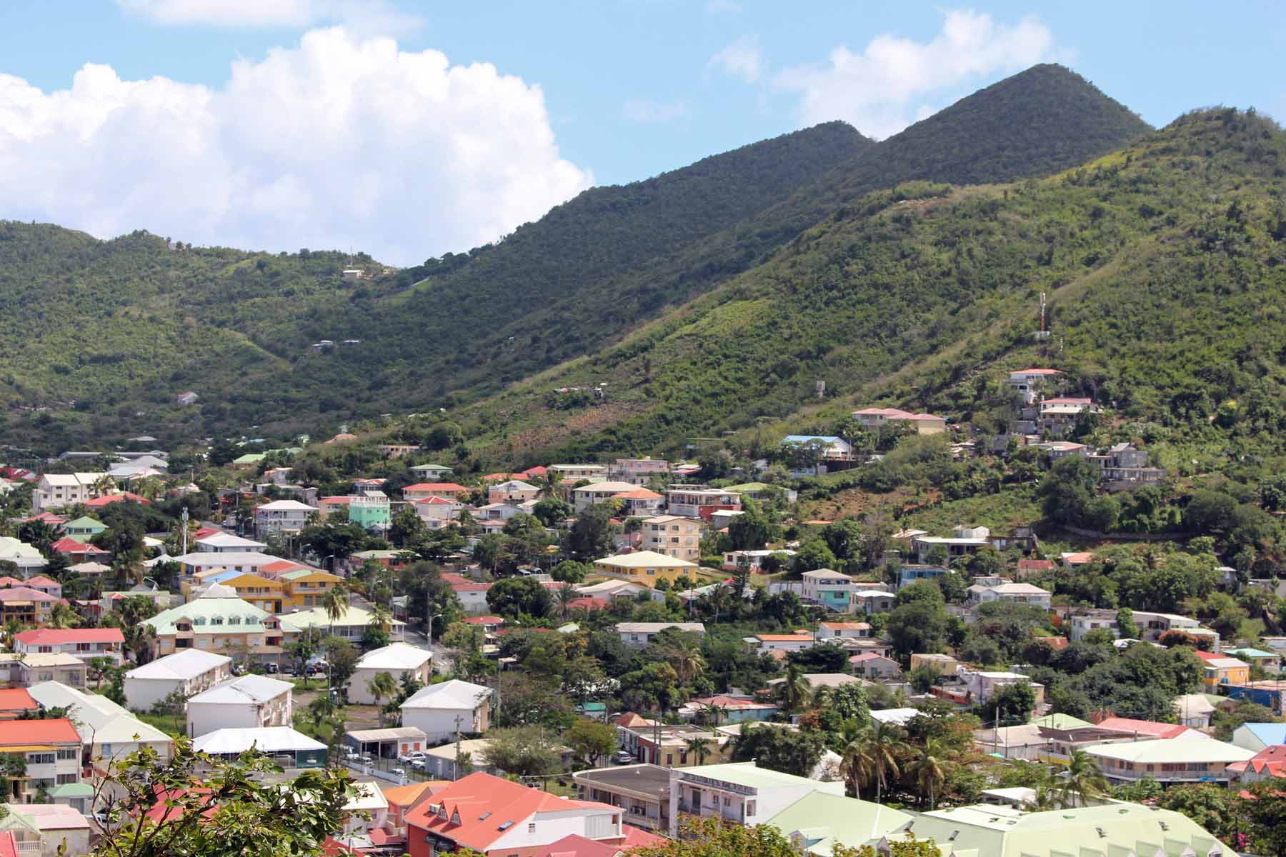 Saint-Martin island, Marigot, city, view