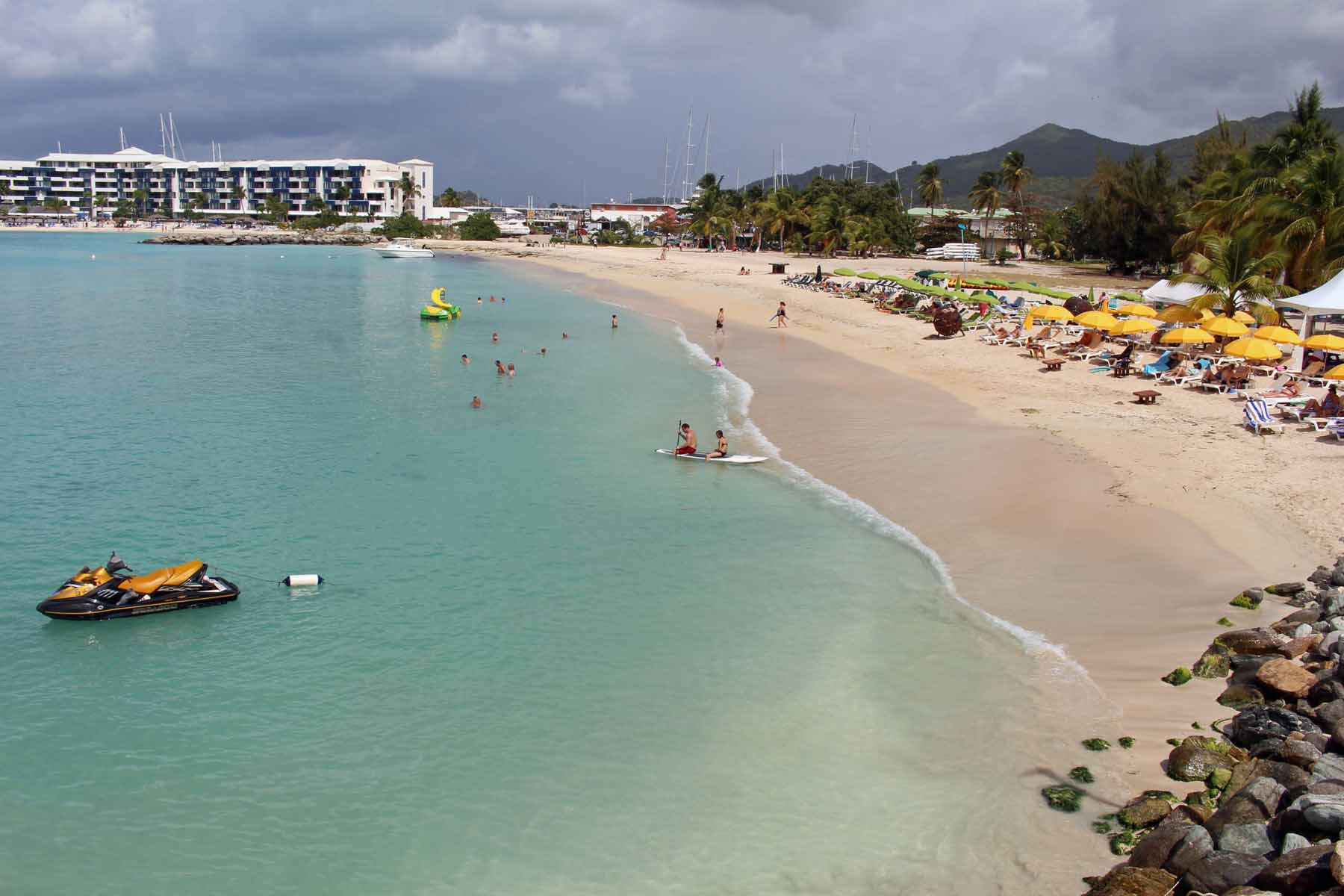 Sint Maarten, Simpson Bay, playa