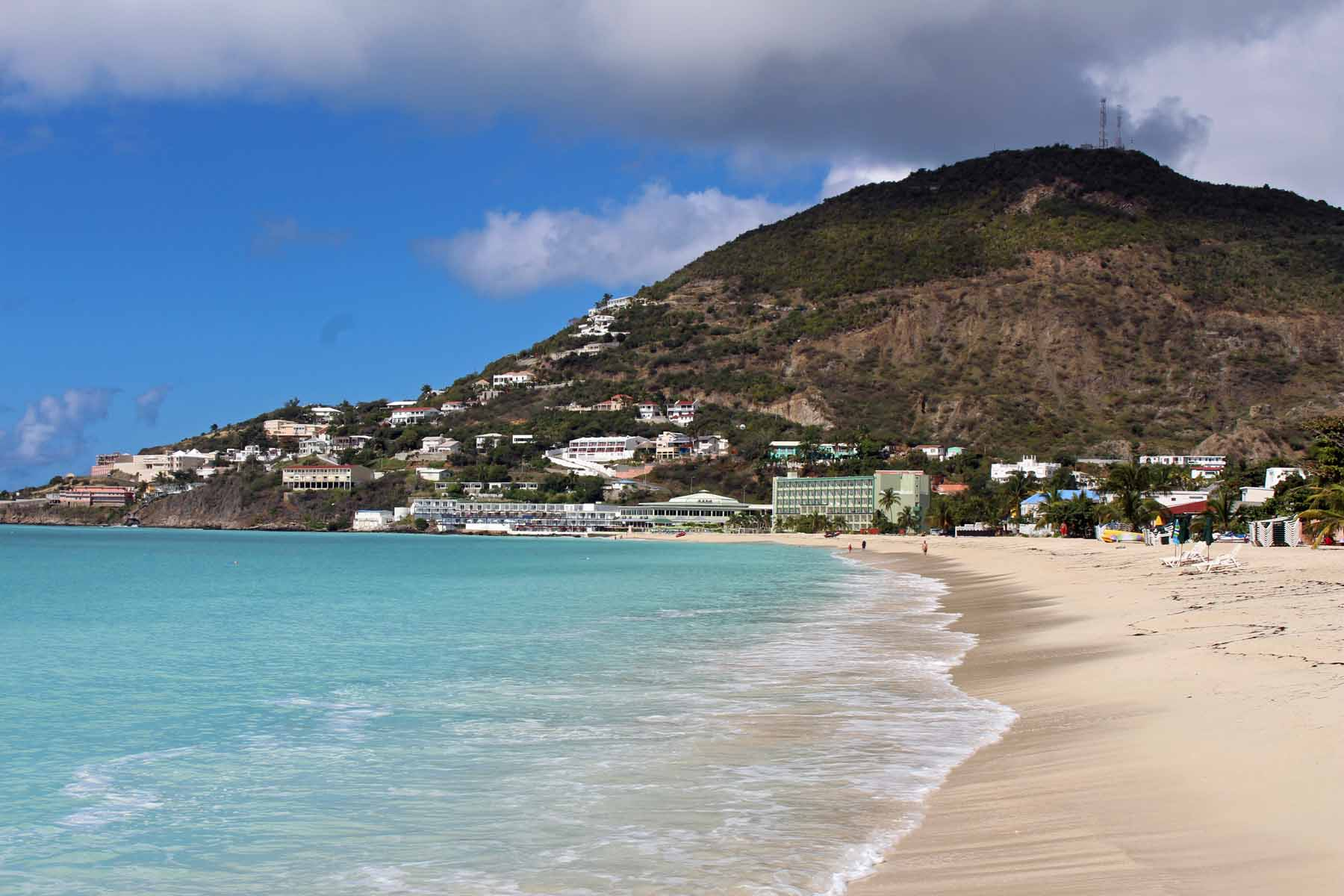 Saint-Martin island, Philispburg, beach, Great Bay