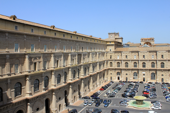 Vatican, courtyard of the du Belvedere