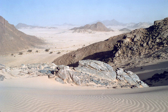 Beautiful landscape of Hoggar