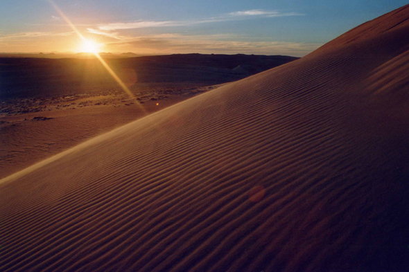 Sunset at Tihodaine in the Sahara