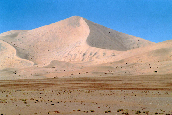 Tihodaine landscape in the Algerian Sahara