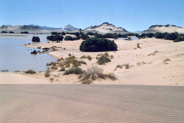 A lake in the Tassili n'Ajjer