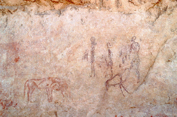 Rupestrian paintings, Tassili, Algeria