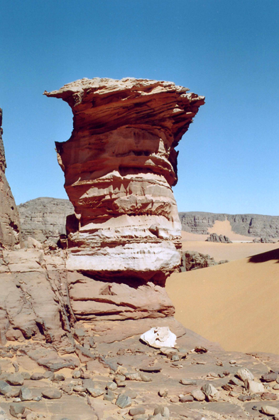 View of the Oued Elberdj in the Algerian Sahara
