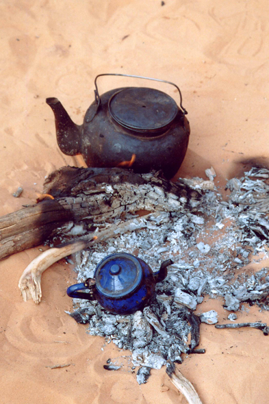 Typical tea in the Sahara