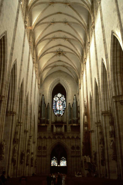 The nave of the cathedral of Ulm, Germany