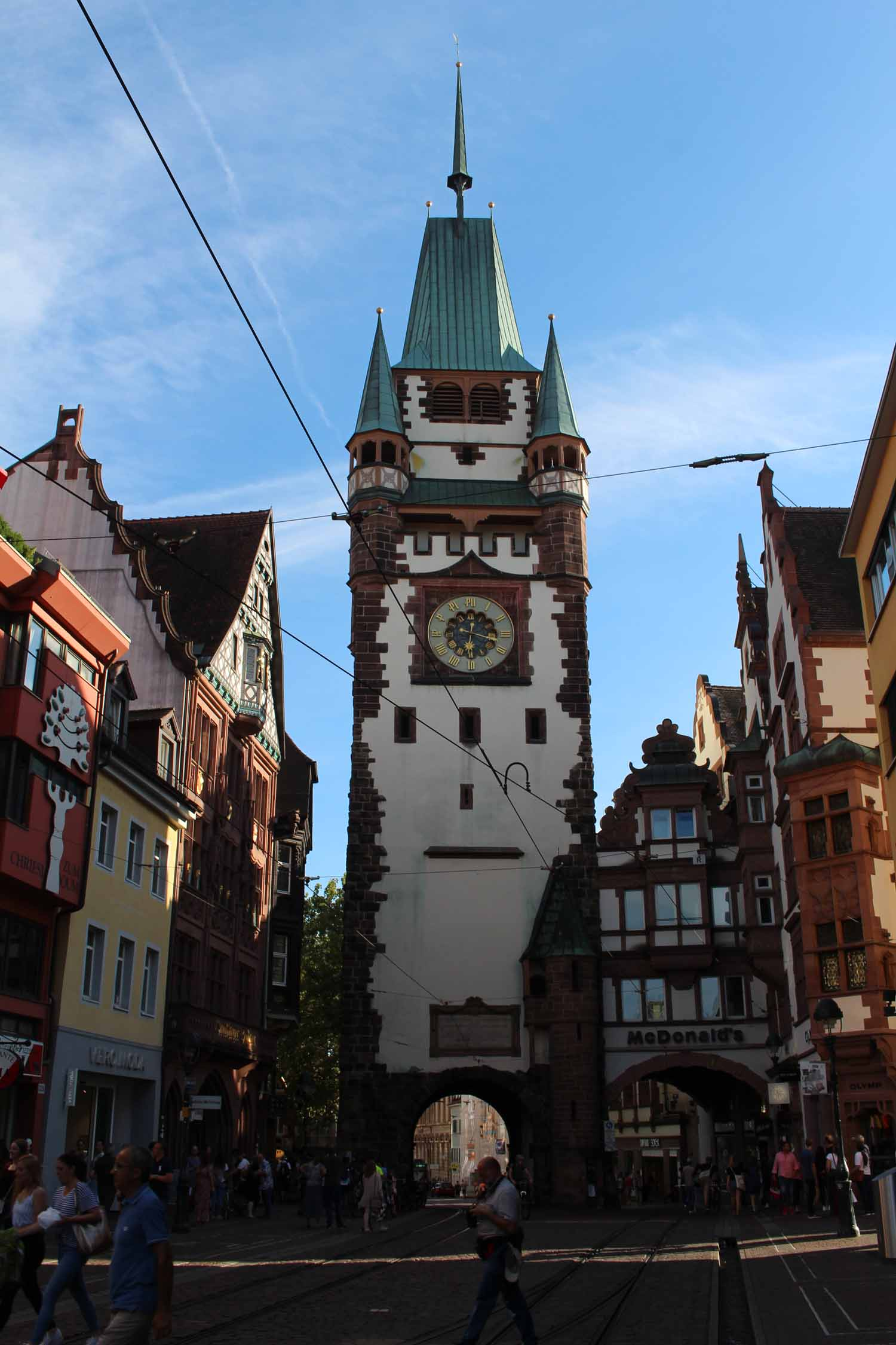 The Martinstor (St. Martin Tower) of Freiburg im Breisgau