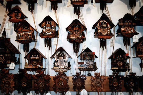 Cuckoo clocks in Black Forest, Germany
