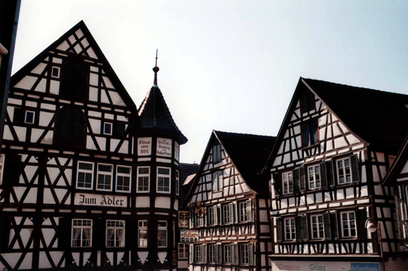 The old city of Schiltach in the Black Forest