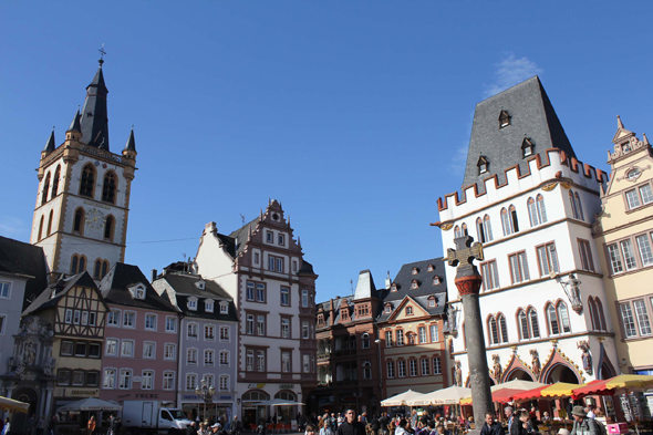 The Hauptmarkt square of Trier, Germany