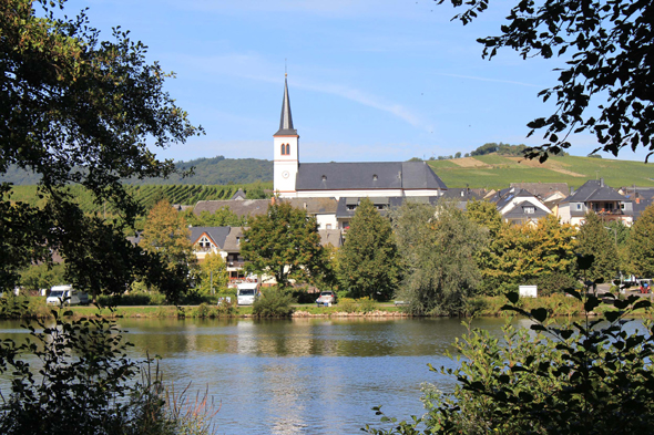 Trittenheim in the Moselle Valley, Germany