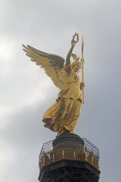 The Siegessäule, a victory statue, in Berlin
